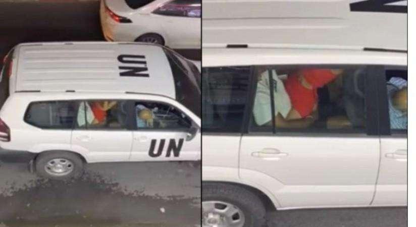 यूनाइटेड नेशंस की 'चलती कार में सेक्स' कर रहे थे 'संयुक्त राष्ट्र' के कर्मचारी,  Social Media पर वायरल हुआ वीडियो