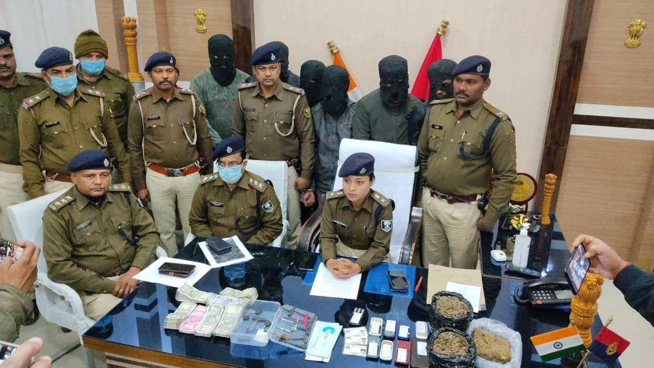 सहरसा में लूट की घटनाओं को अंजाम देने वाले 6 अपराधी गिरफ्तार