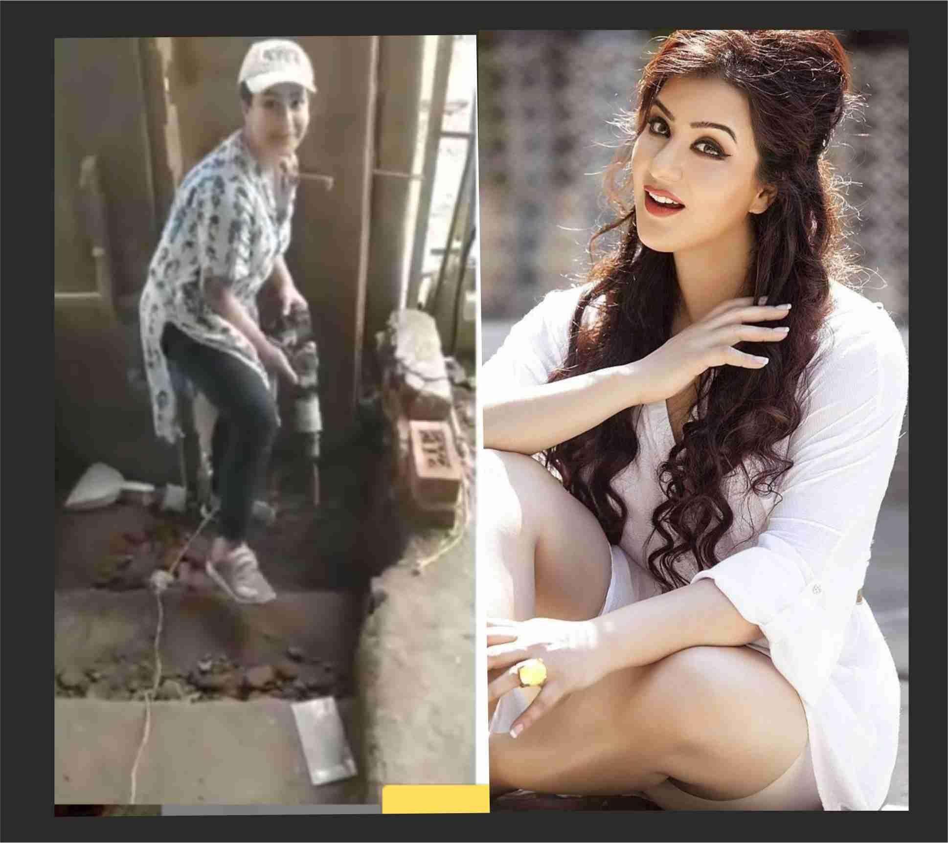 """Shilpa Shinde : लाॅकडाउन में """"अंगूरी भाभी"""" एक्टिंग छोड़ ढूंढ लिया नया काम, नजर आईं पत्थर तोड़ती : VIDEO"""