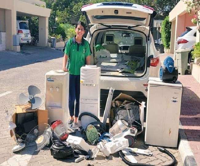 दुबई : भारतीय लड़की का कमाल, 25 टन से अधिक इ-कचरे को कर चुकी रिसाइकिल