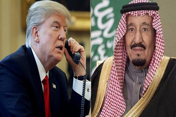 डोनाल्ड्र ट्रंप को सऊदी किंग ने किया फोन