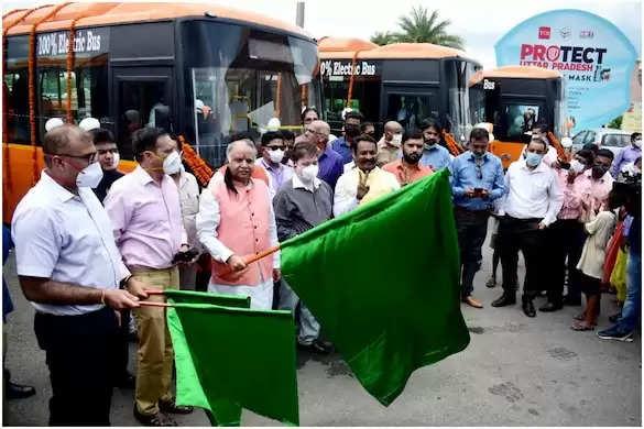 योगी सरकार का अहम कदम,यूपी के 14 शहरों में फर्राटा भरेंगी इलेक्ट्रिक बसें