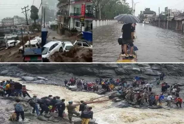 बारिश-बाढ़ से हिमाचल-उत्तराखंड में भारी तबाही मची है,कई जगह पर लैंडस्लाइड हुआ