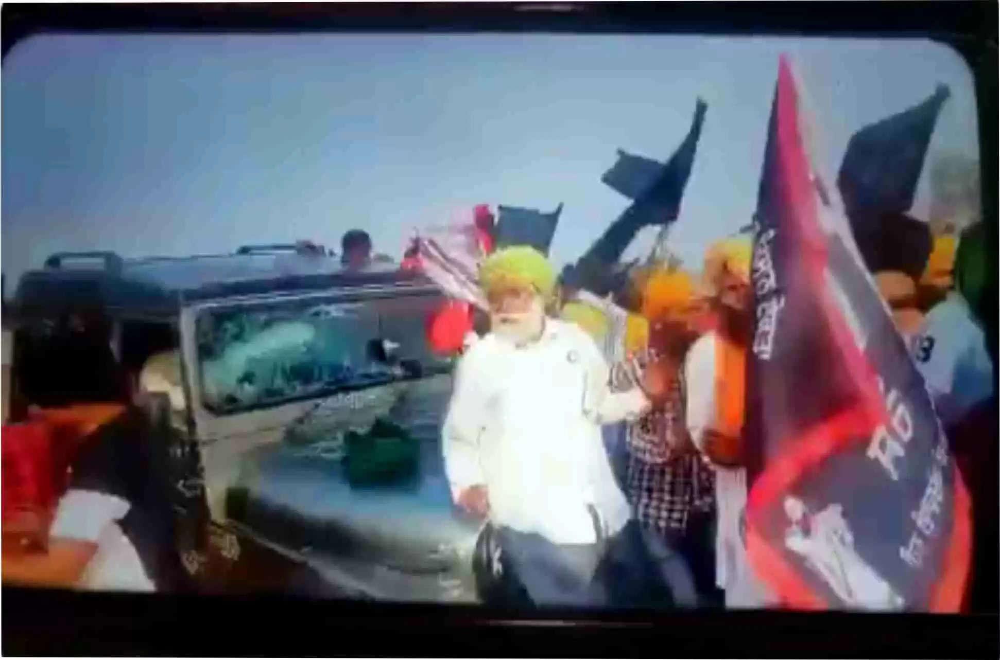 यह वीडियो किसी की भी आत्मा को झखझोर देगा,जिसमें किसानों कोजानबूझकर रौंदते हुए चली गई थी गाड़ी